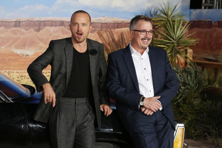 Aaron Paul and Vince Gilligan'El Camino: A Breaking Bad Movie' film premiere, Arrivals, Regency Village Theatre, Los Angeles, USA - 07 Oct 2019