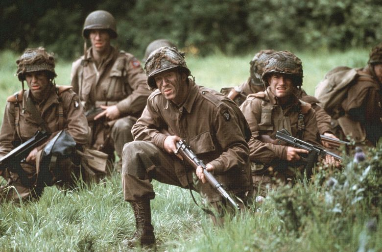 Editorial use only. No book cover usage.Mandatory Credit: Photo by David James/Hbo/20th Century Fox/Dream Works/Kobal/Shutterstock (5883529h)Damian LewisBand Of Brothers - 2001Hbo / 20th Century Fox / Dream WorksUSATelevision