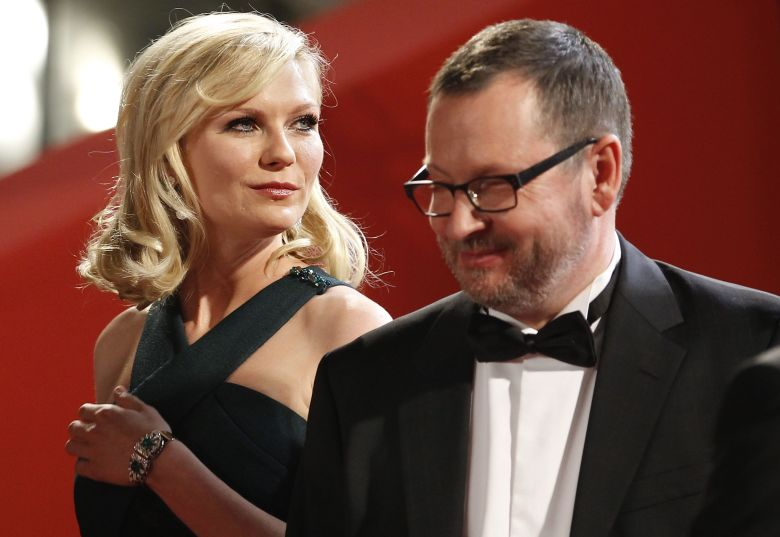 Us Actress Kirsten Dunst (l) and Danish Director Lars Von Trier (r) Arrive For the Screening of 'Melancholia' During the 64th Cannes Film Festival in Cannes France 18 May 2011 the Movie by Lars Von Trier is Presented in the Official Competition of the Film Festival Running From 11 to 22 May France CannesFrance Cannes Film Festival 2011 - May 2011