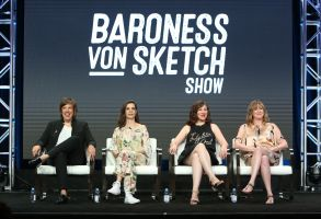 Carolyn Taylor, Meredith Macneill, Aurora Browne and Jennifer WhalenIFC 'Baroness Von Sketch Show' TV show panel, TCA Summer Press Tour, Los Angeles, USA - 29 Jul 2017