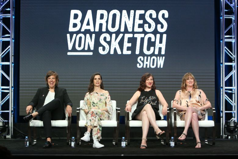 Carolyn Taylor, Meredith Macneill, Aurora Browne and Jennifer WhalenIFC 'Baroness Von Sketch Show' TV show panel, TCA Summer Press Tour, Los Angeles, USA - 29 Jul 2017