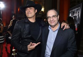 "Director Robert Rodriguez, left, and co-chairman of The Weinstein Company and Dimension Films Bob Weinstein arrive at the ""Sin City: A Dame to Kill For"" premiere presented by Dimension Films in partnership with Time Warner Cable, Dodge and DeLeon Tequila at TCL Chinese Theatre, in Los Angeles""Sin City: A Dame to Kill For"" Premiere Presented by Dimension Films in Partnership with Time Warner Cable, Dodge and DeLeon Teq, Los Angeles, USA"