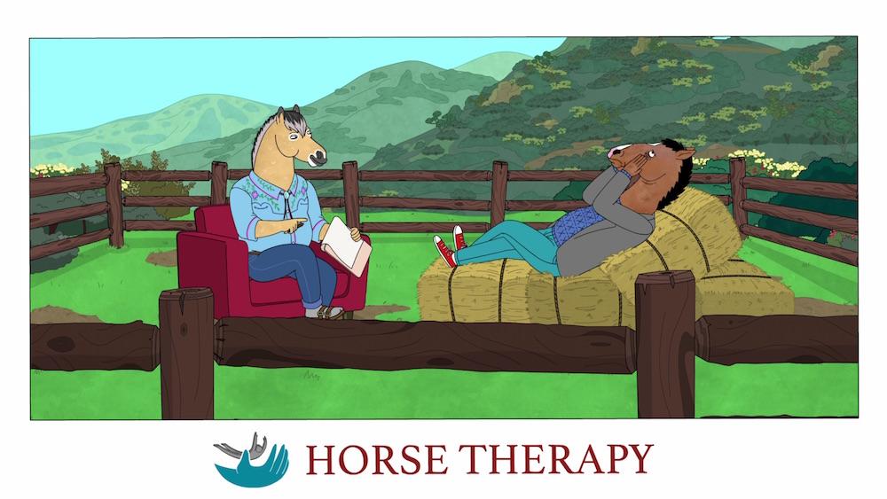 BoJack Horseman Season 6 Netflix Horse Therapy