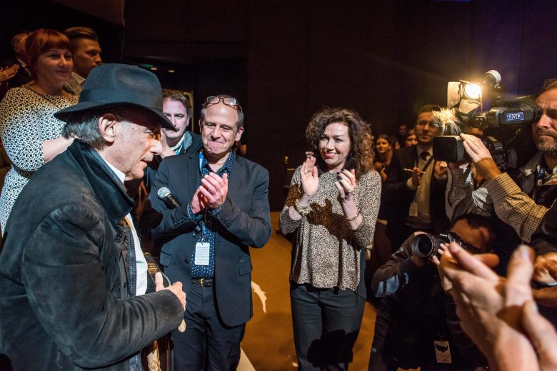 A Picture Made Available on 22 November 2015 Shows Us Cinematographer Edward Lachman (l) After Receiving the Golden Frog Award For 'Carol' During the Closing Gala of the 23rd International Film Festival of the Art of Cinematography Camerimage Held at the Opera Nova in Bydgoszcz Poland 21 November 2015 Poland BydgoszczPoland Cinema Camerimage - Nov 2015