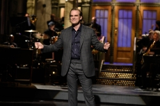 "SATURDAY NIGHT LIVE -- ""David Harbour"" Episode 1770 -- Pictured: Host David Harbour during the monologue on Saturday, October 12, 2019 -- (Photo by: Will Heath/NBC)"