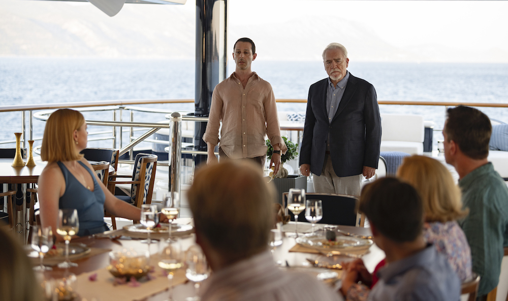 HBO Succession S2 07.21.2019 Croatia S2 Ep 10 - Sc 34 I/E YACHT - OWNER'S DECK - DINING AREA (DUSK 4 DUSK) Tense atmosphere before dinner, it's Kendall Succession S2 | Sourdough Productions, LLC Silvercup Studios East - Annex 53-16 35th St., 4th FloorLong Island City, NY 11101 Office: 718-906-3332