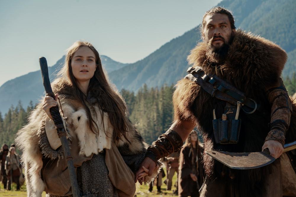 "Hera Hilmar and Jason Momoa in ""See"" Apple TV+"