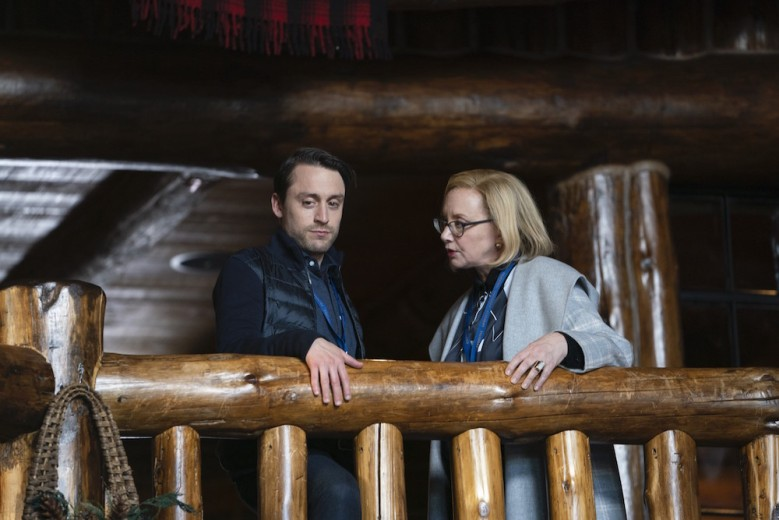 "Kieran Culkin and J. Smith-Cameron in ""Succession"" Season 2"