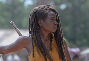 Danai Gurira as Michonne - The Walking Dead _ Season 10, Episode 4 - Photo Credit: Gene Page/AMC
