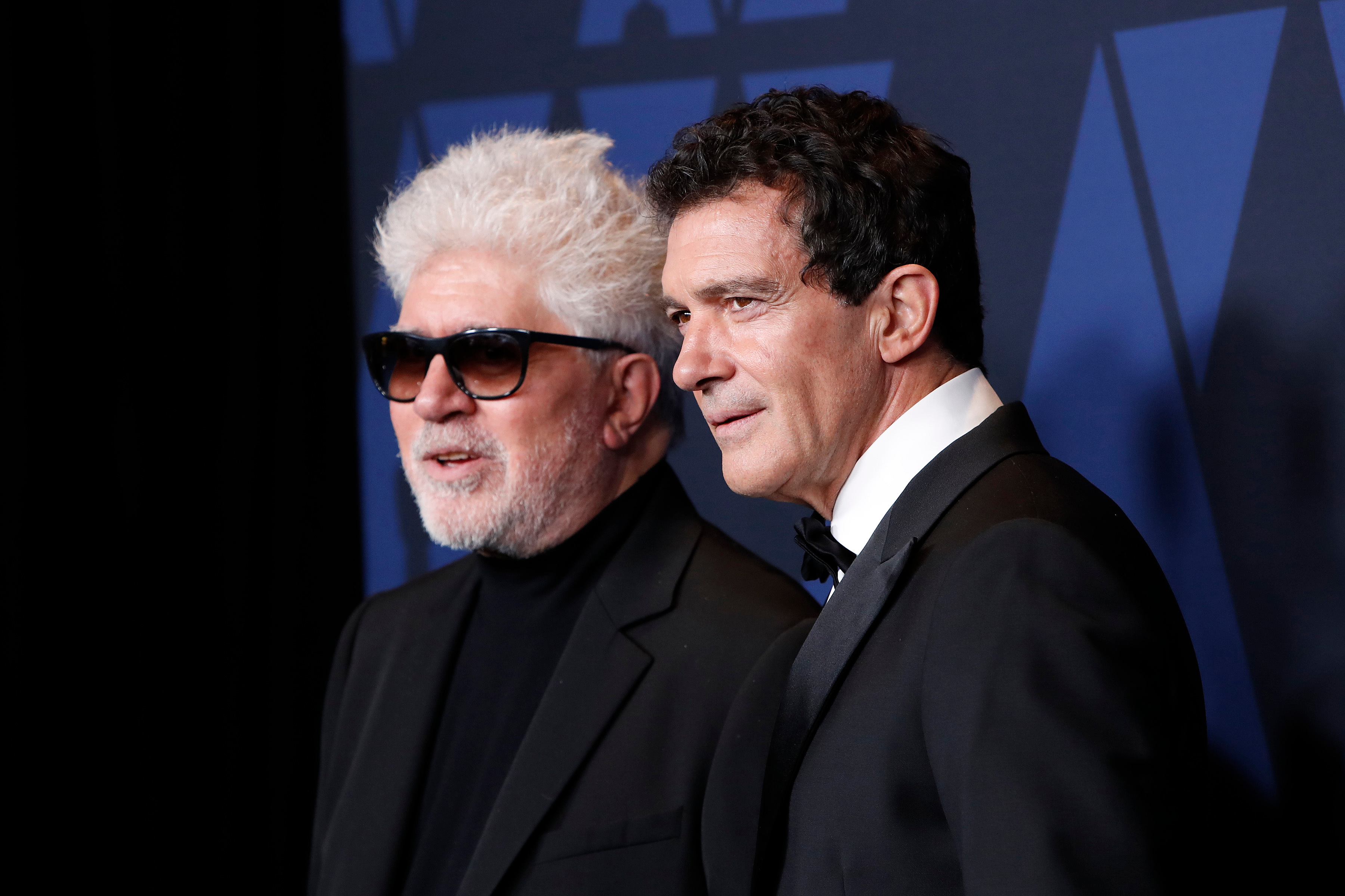 Pedro Almodovar (L) and Spanish actor Antonio Banderas (R) pose on the red carpet prior to the 11th Annual Governors Awards at the Dolby Theater in Hollywood, California, USA, 27 October 2019.11th Annual Governors Awards - Arrivals, Hollywood, USA - 27 Oct 2019