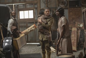 """Dajour Ashwood, Steven Norfleet and Alexis Louder in a scene from """"Watchmen."""""""