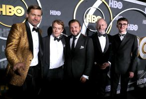 Nikolaj Coster-Waldau, Alfie Allen, John Bradley, Liam Cunningham and Isaac Hempstead WrightHBO Primetime Emmy Awards After Party, Arrivals, Pacific Design Center, Los Angeles, USA - 22 Sep 2019