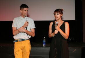 "Jacob Soboroff Will McCormack and Rashida Jones attend the ""Celeste and Jesse Forever"" Band of Outsiders screening at The Silent Theater, in Los Angeles""Celeste and Jesse Forever"" Band of Outsiders Screening, Los Angeles, USA"