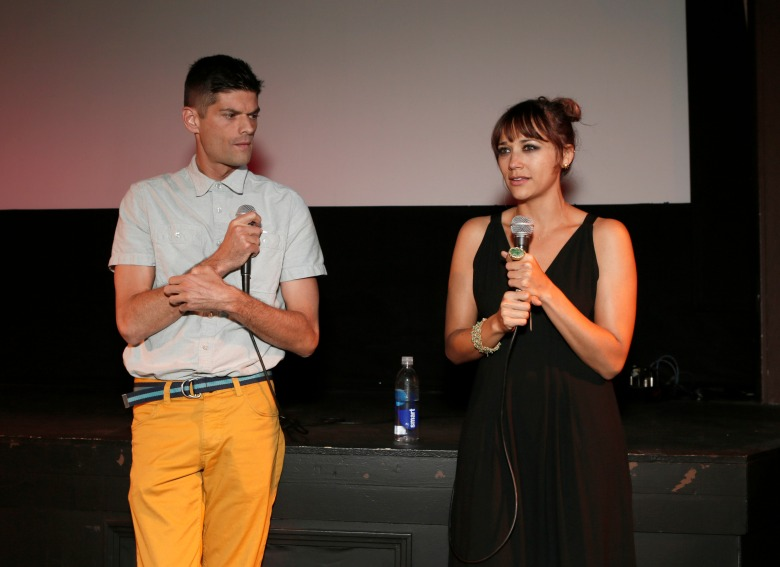 """Jacob Soboroff Will McCormack and Rashida Jones attend the """"Celeste and Jesse Forever"""" Band of Outsiders screening at The Silent Theater, in Los Angeles""""Celeste and Jesse Forever"""" Band of Outsiders Screening, Los Angeles, USA"""