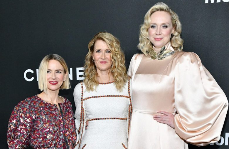 NEW YORK, NEW YORK - NOVEMBER 12: (L-R) Naomi Watts, Laura Dern, and Gwendoline Christie attend MoMA's Twelfth Annual Film Benefit Presented By CHANEL Honoring Laura Dern on November 12, 2019 in New York City. (Photo by Craig Barritt/Getty Images for MoMA)