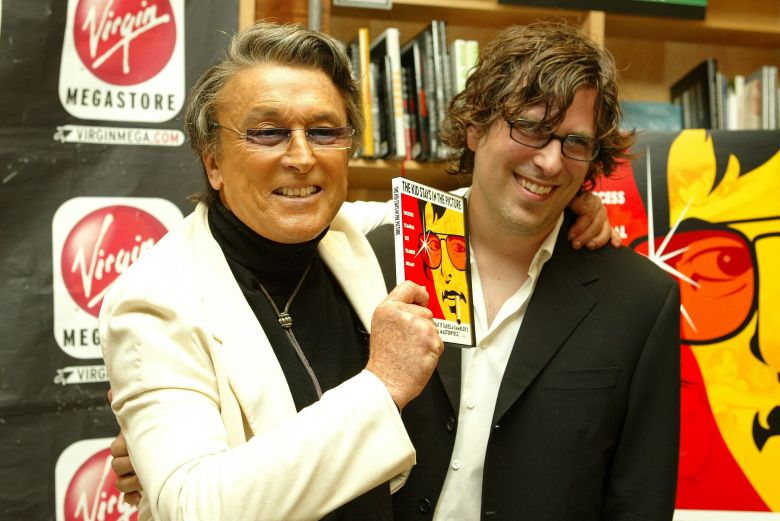 Robert Evans and Director Brett Morgen'THE KID STAYS IN THE PICTURE' DVD RELEASE, LOS ANGELES, AMERICA - 19 AUG 2003August 19, 2003 - West Hollywood, CA.Robert Evans and Director Brett Morgen .Warner Home Video presents the DVD release of THE KID STAYS IN THE PICTURE at the Virgin Mega Store on Sunset Blvd., West Hollywood.Photo®Eric Charbonneau/BEImages