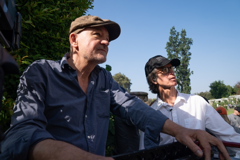 """Bombshell"" cInematographer Barry Ackroyd and director Jay Roach"