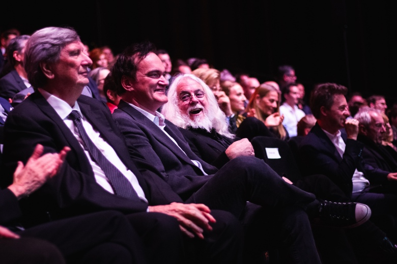 John Bailey, Quentin Tarantino, and Robert Richardson at the Camerimage Ceremony