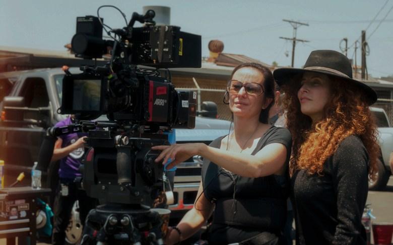 Cinematographer Natasha Braier with Director Alma Har'el on the set of HONEY BOYCourtesy of Amazon Studios