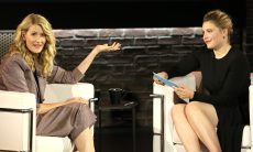 """NEW YORK, NEW YORK - OCTOBER 02: Laura Dern (L) is interviewed by Greta Gerwig for Ovation's """"Inside the Actors Studio"""" at Schimmel Center at Pace University on October 02, 2019 in New York City. (Photo by Monica Schipper/Getty Images  for  Ovation TV)"""