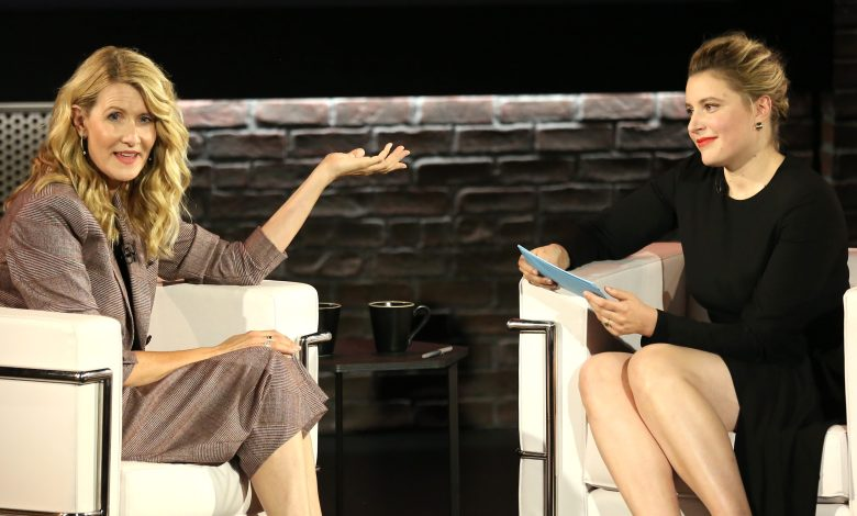 "NEW YORK, NEW YORK - OCTOBER 02: Laura Dern (L) is interviewed by Greta Gerwig for Ovation's ""Inside the Actors Studio"" at Schimmel Center at Pace University on October 02, 2019 in New York City. (Photo by Monica Schipper/Getty Images  for  Ovation TV)"