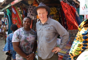 "Sam Richardson and Conan O'Brien in ""Conan in Ghana"" TBS"