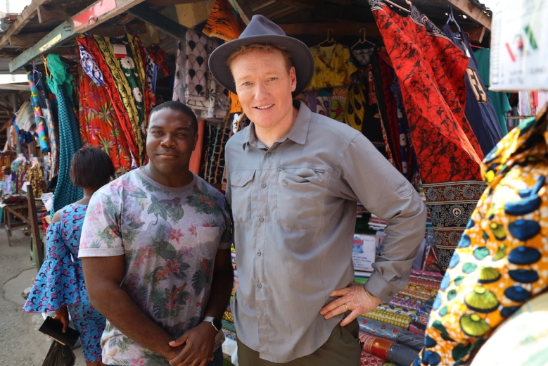 "Sam Richardson and Conan O'Brien in ""Conan in Ghana"" TBS"