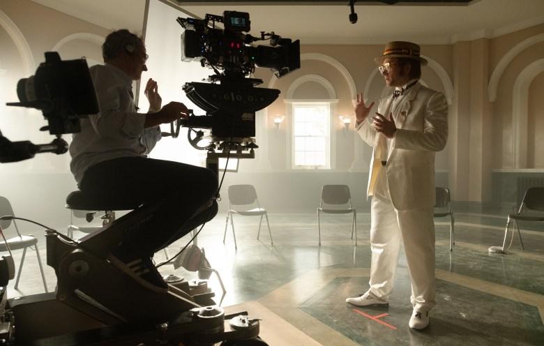 Taron Egerton as Elton John on the set of Rocketman from Paramount Pictures.