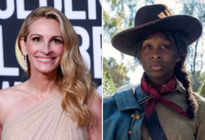"Julia Roberts and ""Harriet"" star Cynthia Erivo"