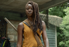 Danai Gurira as Michonne - The Walking Dead _ Season 10, Episode 8 - Photo Credit: Eliza Morse/AMC
