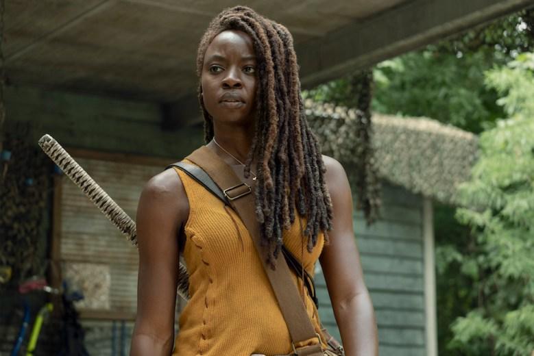 Danai Gurira as Michonne - The Walking Dead _ Season 10, Episode 8 - Photo Credit: Eliza Morse/AMC