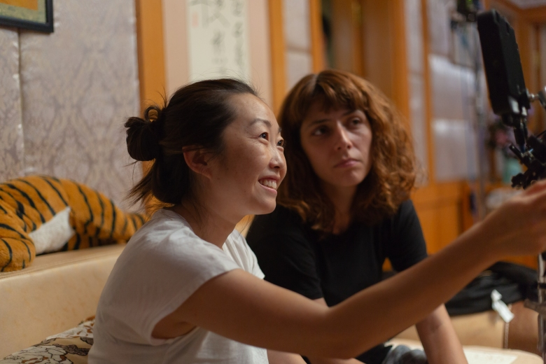 """The Farewell"" director Lulu Wang and DoP Anna Franquesa Solano"