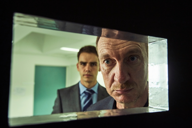 Ep1.  Stars DAVID THEWLIS as Lawrence Hatfield and JEREMY NEUMARK JONES as Ben Hatfield.
