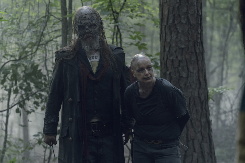 Samantha Morton as Alpha, Ryan Hurst as Beta - The Walking Dead _ Season 10, Episode 5 - Photo Credit: Jace Downs/AMC