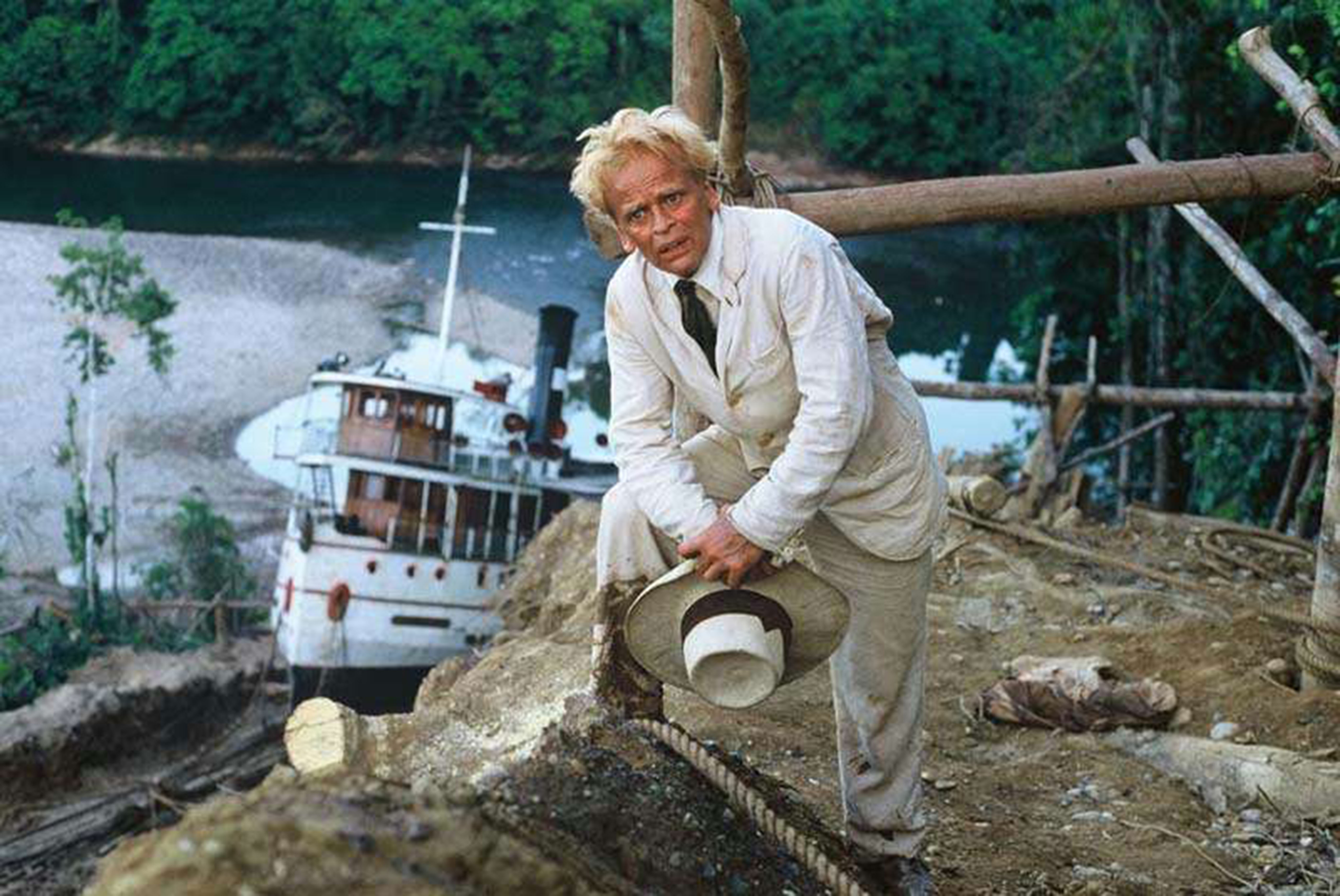 Editorial use only. No book cover usage.Mandatory Credit: Photo by Moviestore/Shutterstock (3186156a) Klaus Kinski Fitzcarraldo - 1982
