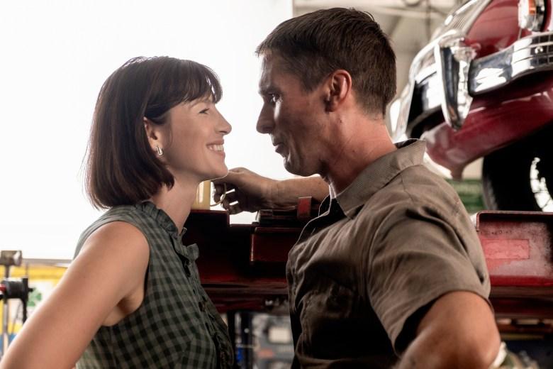 Caitriona Balfe and Christian Bale in Twentieth Century Fox's FORD V FERRARI.