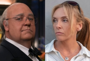 "Russell Crowe in ""The Loudest Voice"" and Toni Collette in ""Unbelievable"""