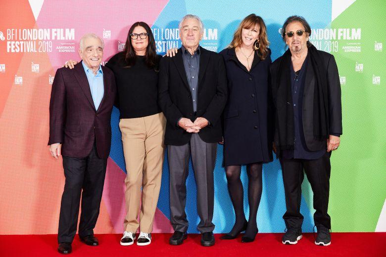 Martin Scorsese, Emma Tillinger Koskoff, Robert De Niro, Jane Rosenthal and Al Pacino'The Irishman' film photocall, BFI London Film Festival, May Fair Hotel, UK - 13 Oct 2019