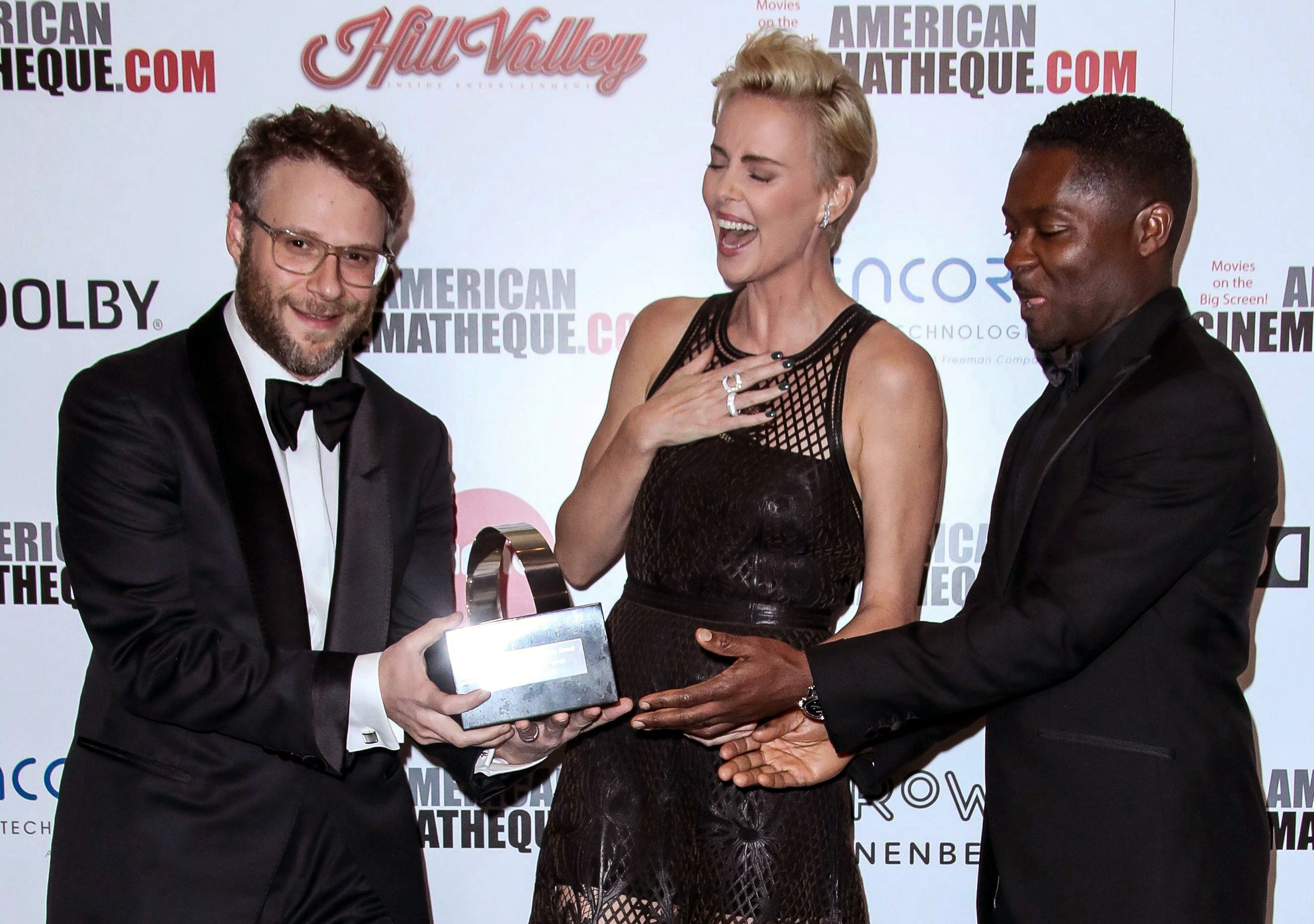 Seth Rogen, Charlize Theron and David Oyelowo33rd Annual American Cinematheque Awards Gala, Arrivals, Beverly Hilton, Los Angeles, USA - 08 Nov 2019