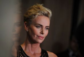 Charlize Theron pseaks to the press upon her arrival for the American Cinematheque 2019 Award Show at the Beverly Hilton in Los Angeles, California, USA, 08 November 2019.The 33rd American Cinematheque Awards, Los Angeles, USA - 08 Nov 2019