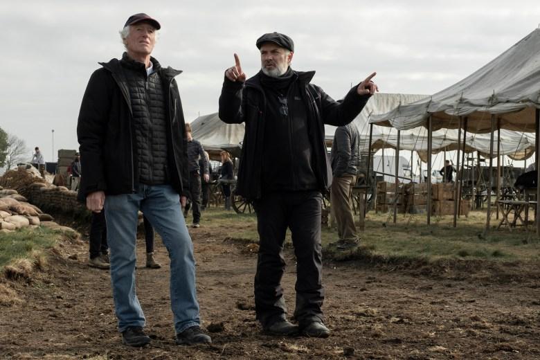 """""""1917"""" cinematographer Roger Deakins and director Sam Mendes"""