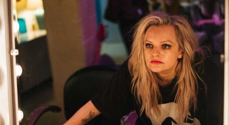 "Elisabeth Moss plays Becky Something, a punk singer struggling with substance abuse, in the new film <em>Her Smell. </em>""It was the hardest dialogue I've ever had to learn,"" she says"