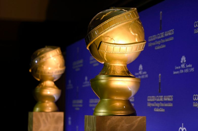 Golden Globe statues appear at the 73rd annual Golden Globe Awards nominations at the Beverly Hilton hotel in Beverly Hills, Calif. The Hollywood Foreign Press Association is giving $300,000 to help the victims of California's wildfires and their families. The organization best known as the creators and organizers of the Golden Globe Awards on announced the donation to four organizations that also include money for victims and families of last week's mass shooting in Southern CaliforniaGolden Globes Fire Donations, Beverly Hills, USA - 10 Dec 2015
