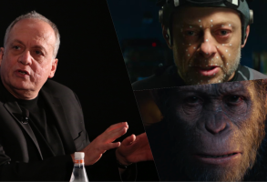 Joe Letteri with Andy Serkis playing Caesar