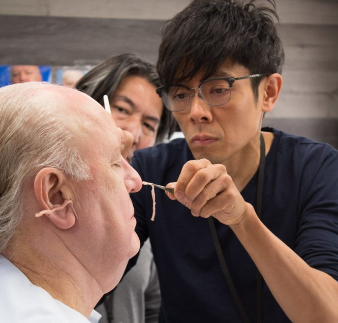 "Kazu Hiro turning John Lithgow into Roger Ailes for ""Bombshell"""