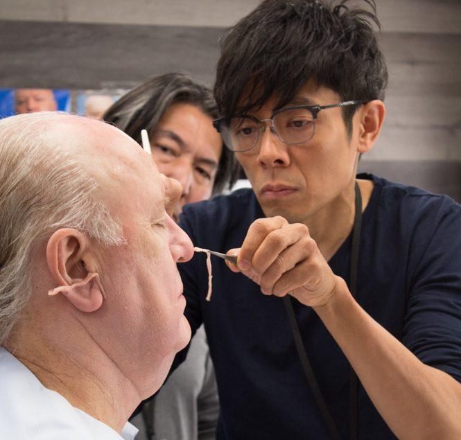 "Kazu Hiro turning John Lithgow into Roger Ailes for ""Bombshell"""