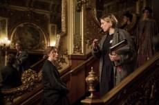 BTS:  Jo March (Saoirse Ronan)  Director/Writer Greta Gerwig on the set of Greta Gerwig's LITTLE WOMEN.