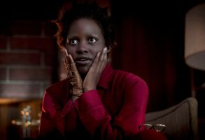 Editorial use only. No book cover usage.Mandatory Credit: Photo by C Barius/Universal/ILM/Kobal/Shutterstock (10162635l)Lupita Nyong'o as Red'Us' Film - 2019A family's serenity turns to chaos when a group of doppelgängers begins to terrorize them.