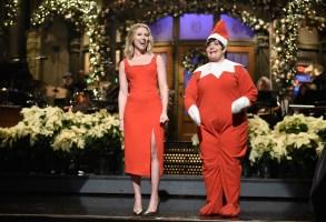 "Scarlett Johansson, Aidy Bryant, ""Saturday Night Live"""