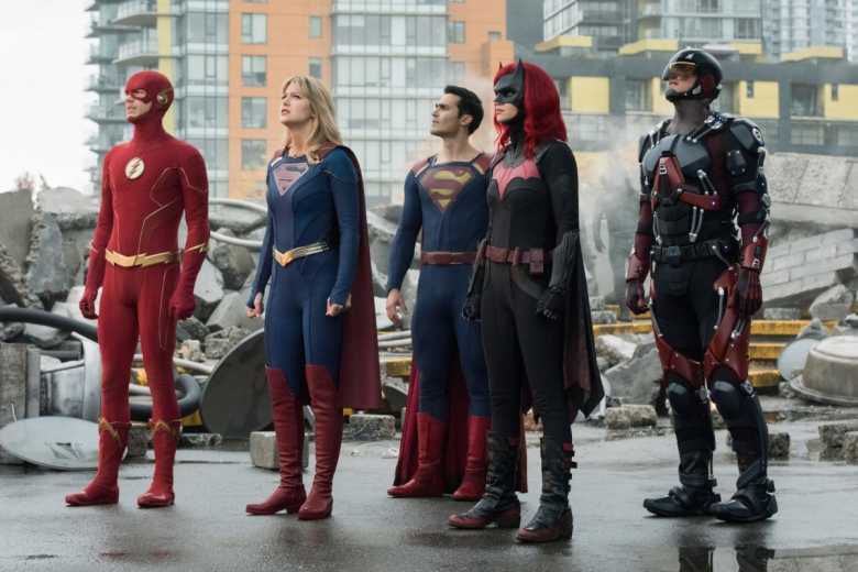 "Grant Gustin, Melissa Benoist, Tyler Hoechlin, Ruby Rose, and Brandon Routh, ""Crisis on Infinite Earths"""